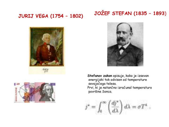 JOŽEF STEFAN (1835 – 1893