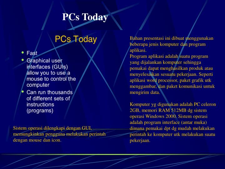 PCs Today
