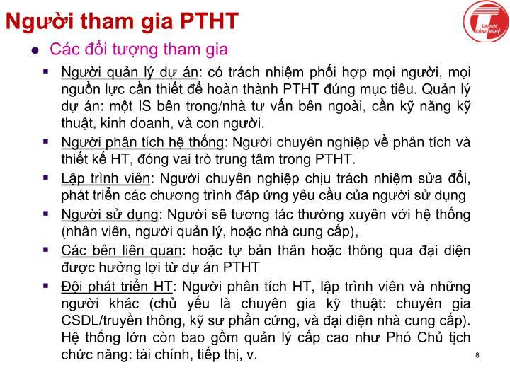 Người tham gia PTHT