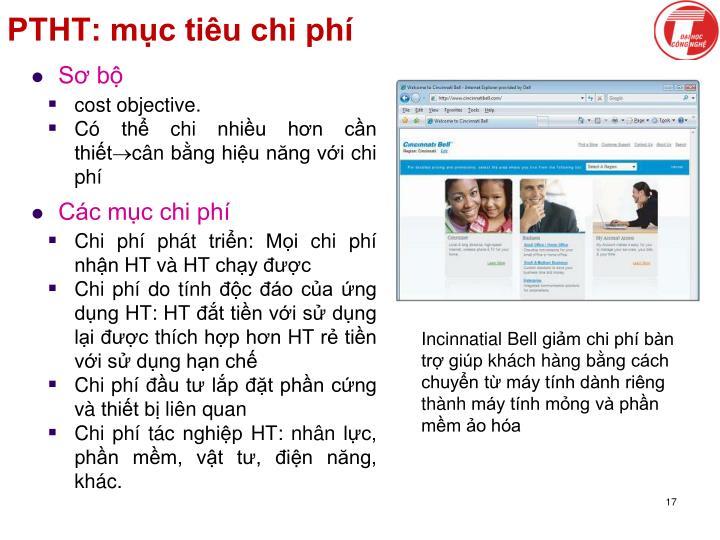 PTHT: mục tiêu chi phí