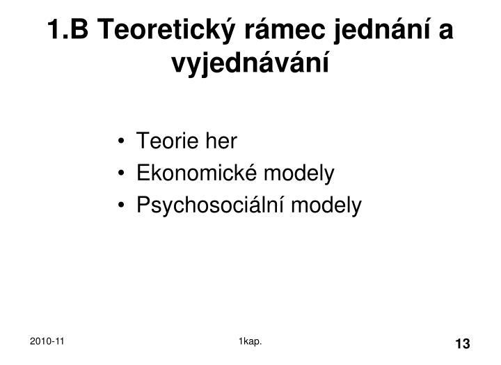 1.B Teoretický rámec jednání a vyjednávání
