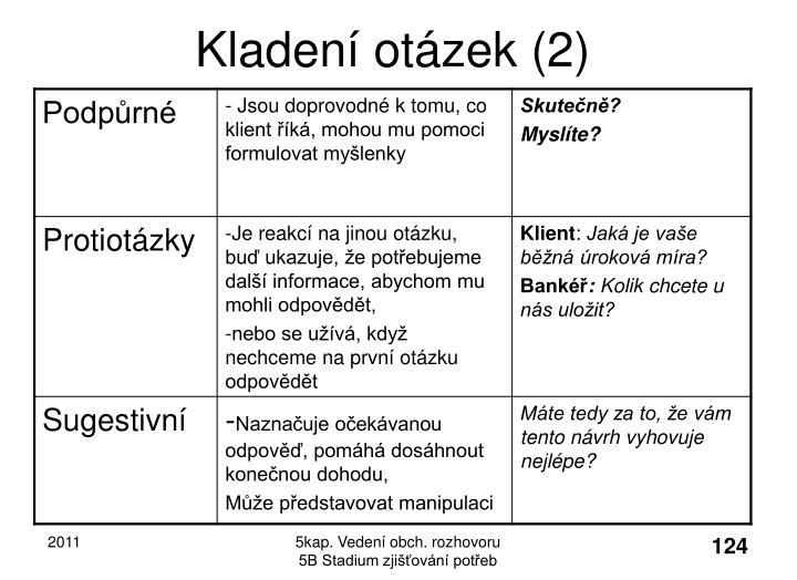 Kladení otázek (2)