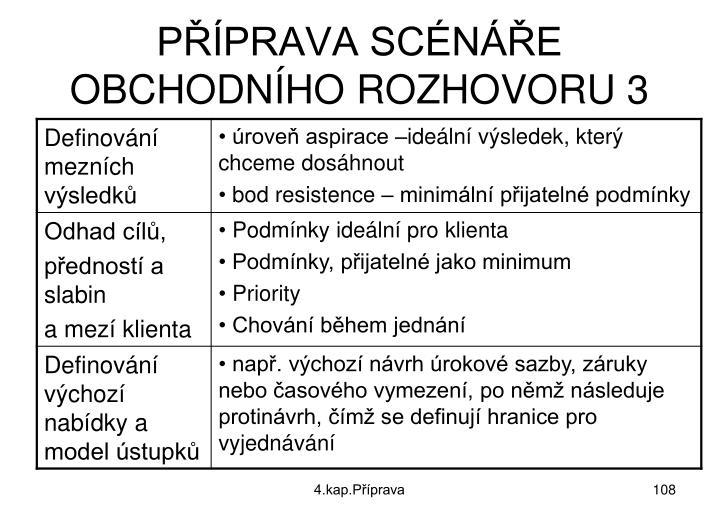 PŘÍPRAVA SCÉNÁŘE OBCHODNÍHO ROZHOVORU 3