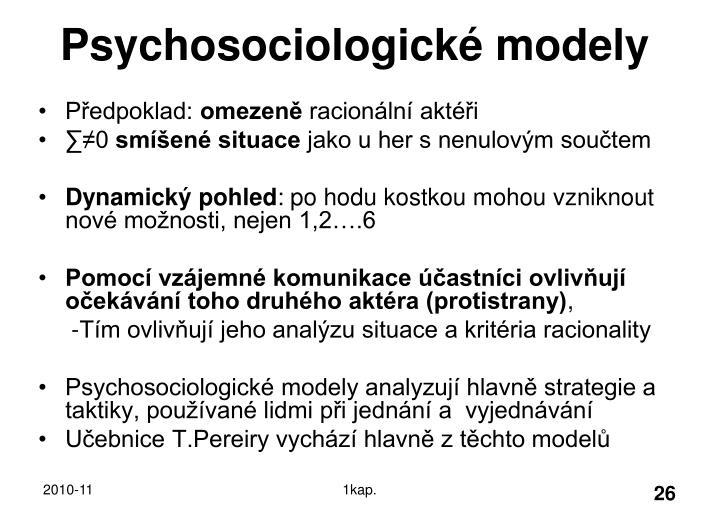 Psychosociologické modely