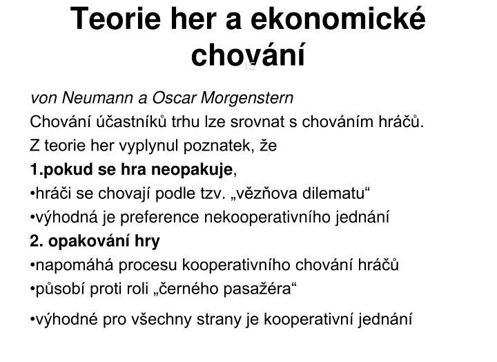Teorie her a ekonomické chování