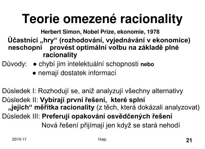 Teorie omezené racionality