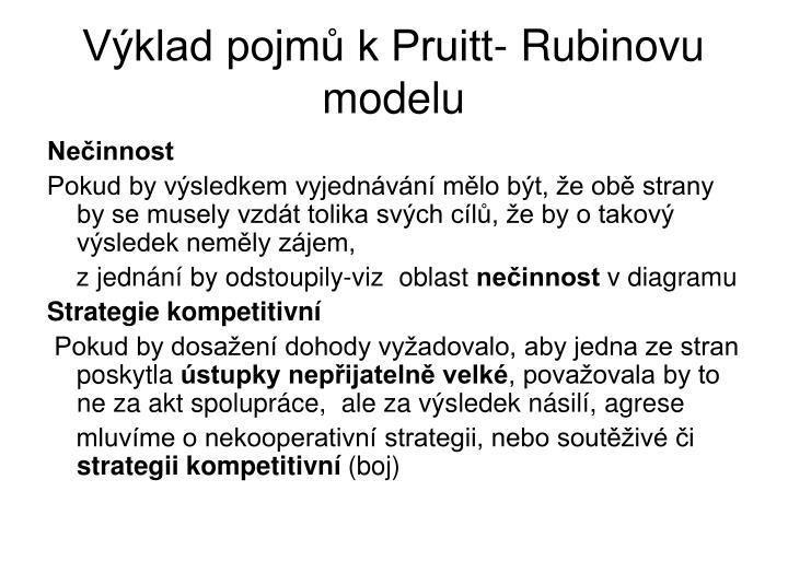 Výklad pojmů k Pruitt- Rubinovu modelu