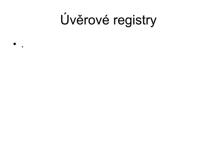 Úvěrové registry