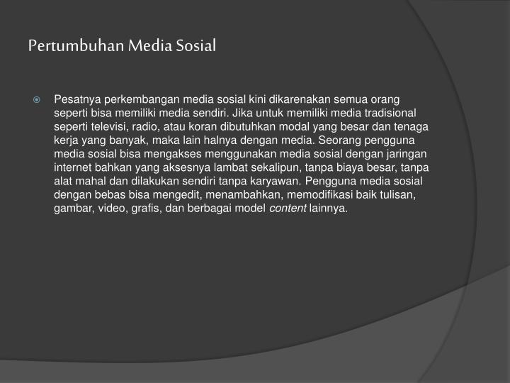 Pertumbuhan Media Sosial