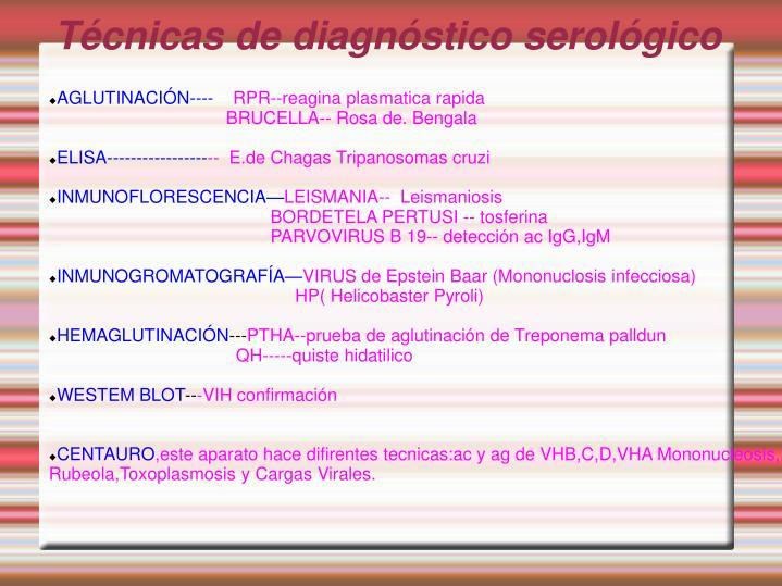 Técnicas de diagnóstico serológico