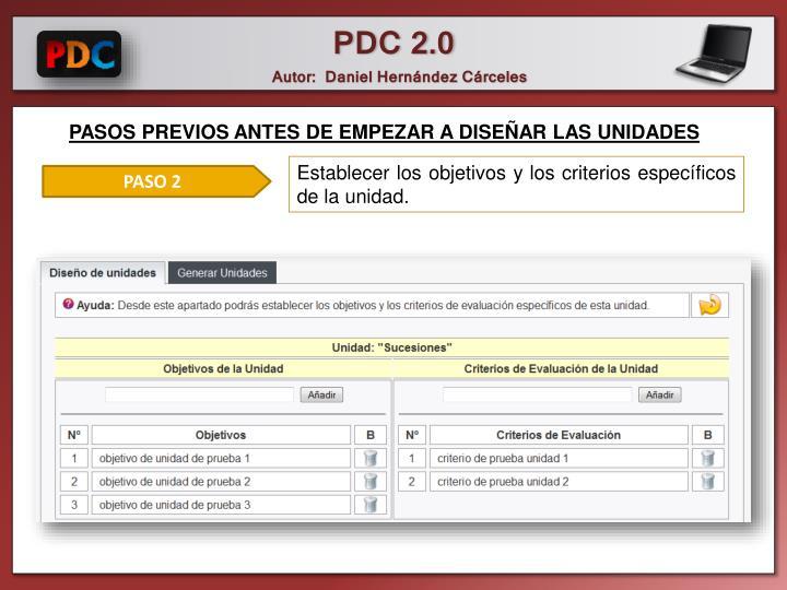PASOS PREVIOS ANTES DE EMPEZAR A DISEÑAR LAS UNIDADES