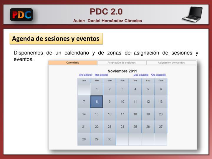 Agenda de sesiones y eventos