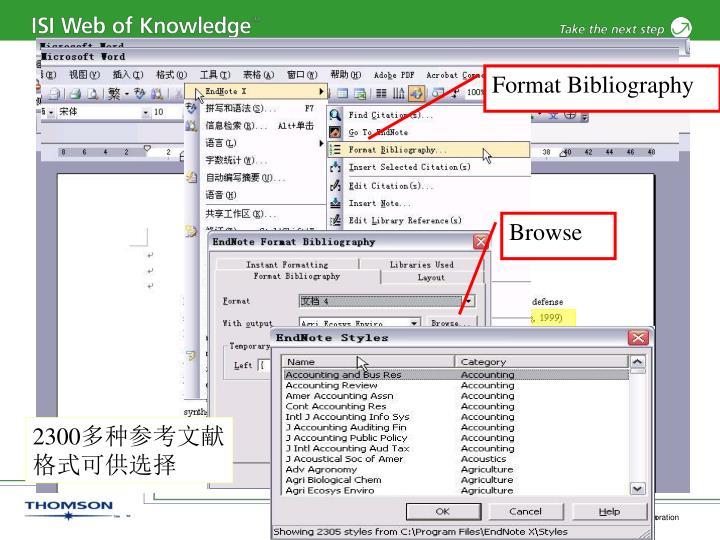 Format Bibliography