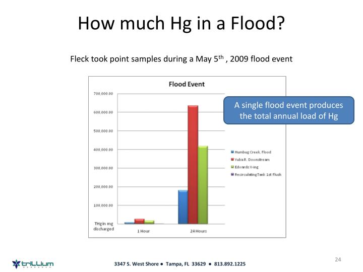 How much Hg in a Flood?