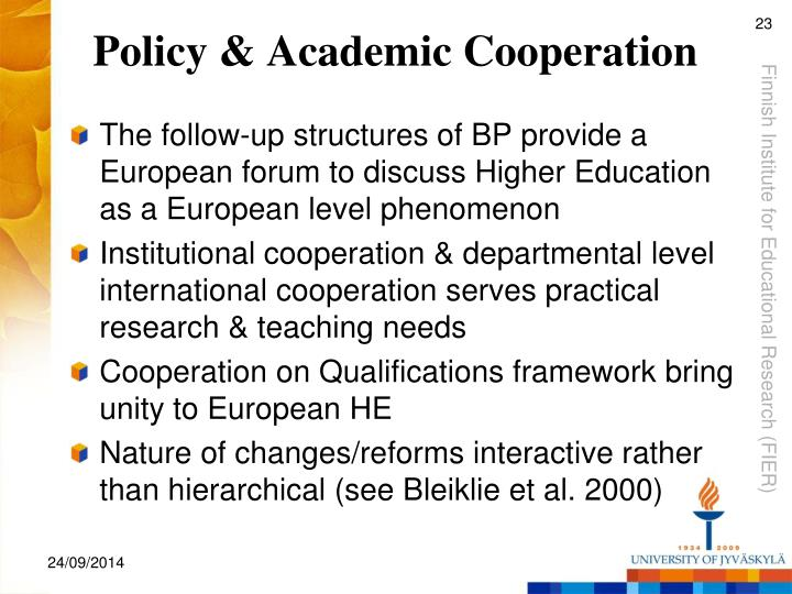 Policy & Academic Cooperation