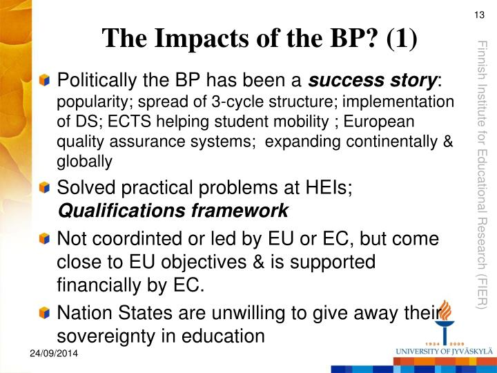 The Impacts of the BP? (1)