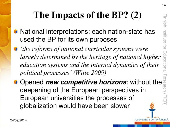 The Impacts of the BP? (2)
