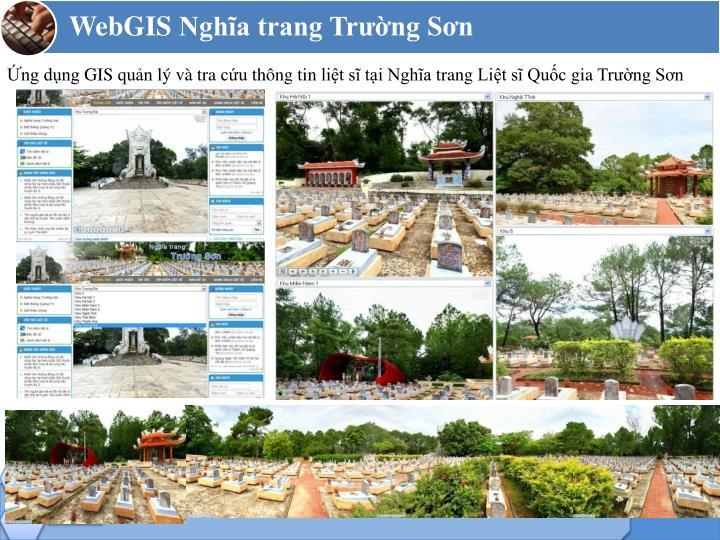 Ứng dụng GIS quản lý và tra cứu thông tin liệt sĩ tại Nghĩa trang Liệt sĩ Quốc gia Trường Sơn