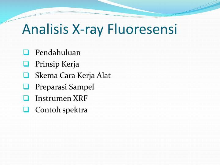 Analisis X-ray Fluoresensi