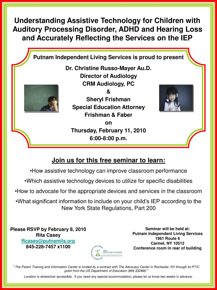 Understanding Assistive Technology for Children with Auditory Processing Disorder, ADHD and Hearing ...