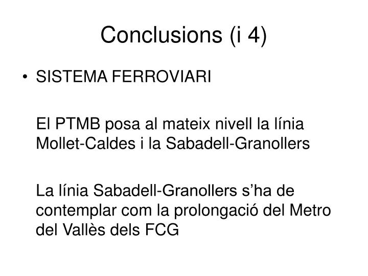 Conclusions (i 4)