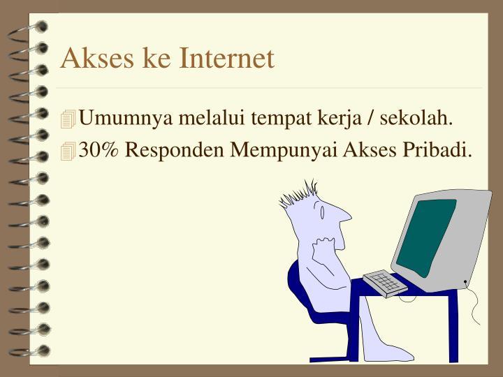 Akses ke Internet