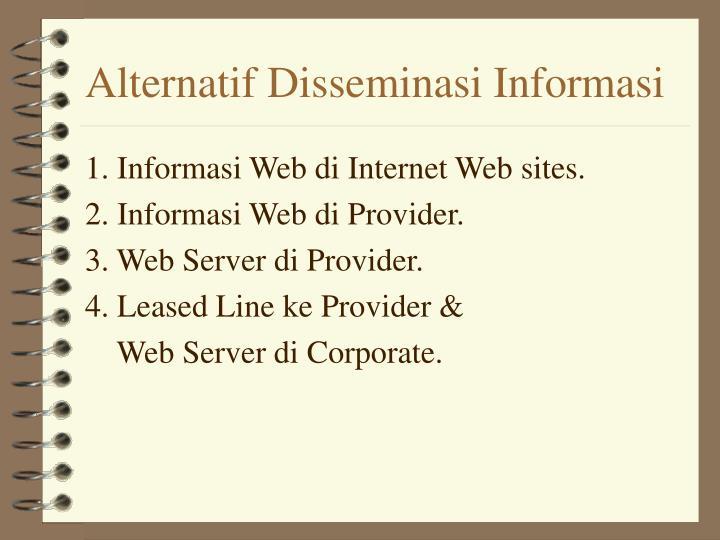 Alternatif Disseminasi Informasi