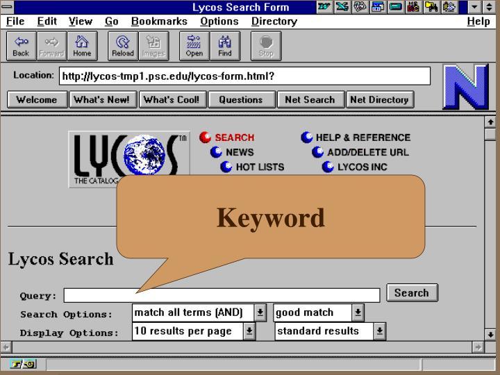 Contoh Search Lycos