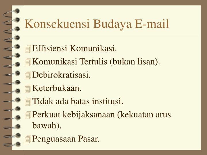 Konsekuensi Budaya E-mail