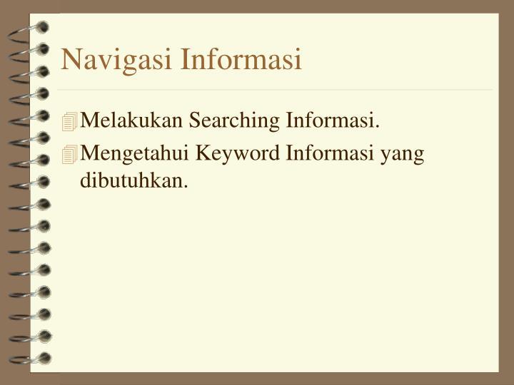 Navigasi Informasi