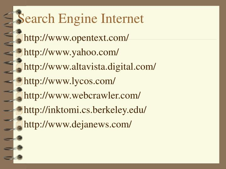 Search Engine Internet
