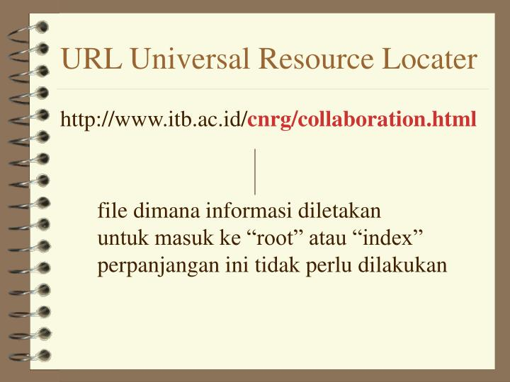 URL Universal Resource Locater