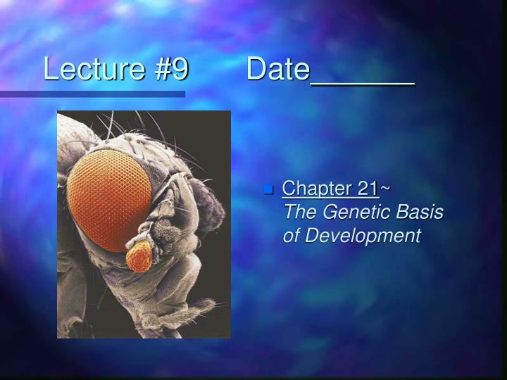 Lecture 9 date