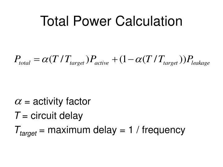 Total Power Calculation
