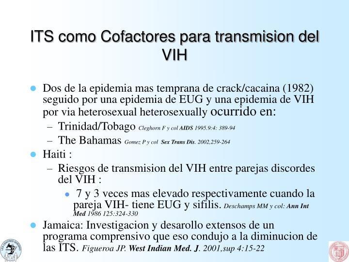 ITS como Cofactores para transmision del VIH