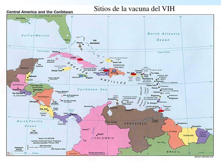 Sitios de la vacuna del VIH