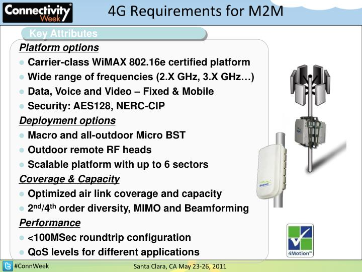4G Requirements for M2M