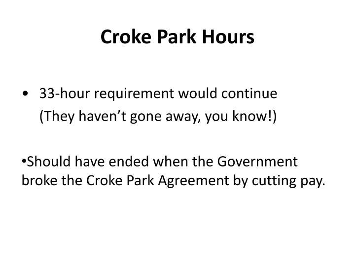 Croke Park Hours