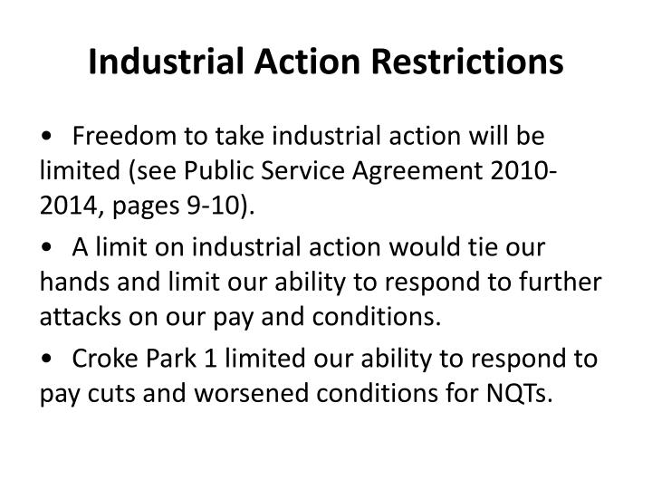 Industrial Action Restrictions