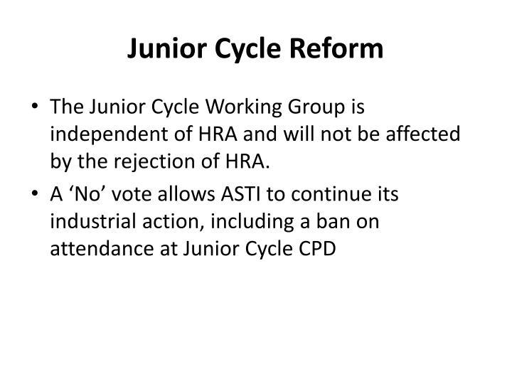 Junior Cycle Reform