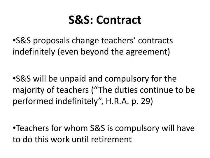 S&S: Contract
