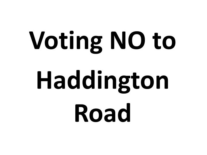 Voting NO to