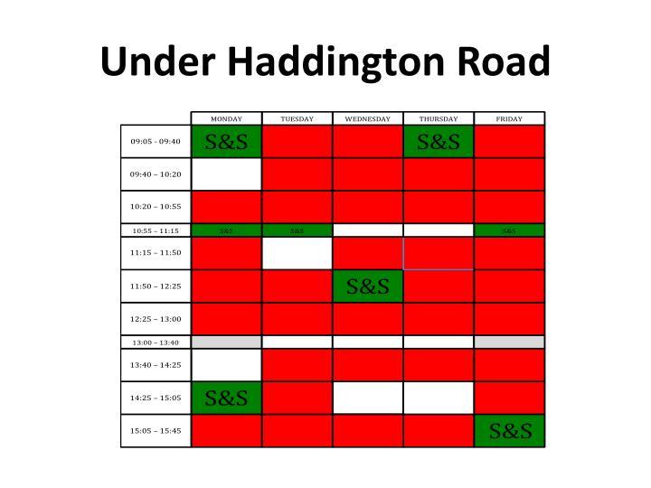 Under Haddington Road
