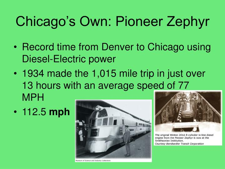 Chicago's Own: Pioneer Zephyr