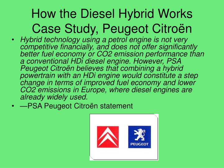 How the Diesel Hybrid Works