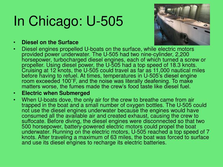 In Chicago: U-505