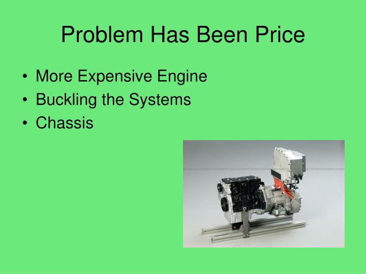 Problem Has Been Price