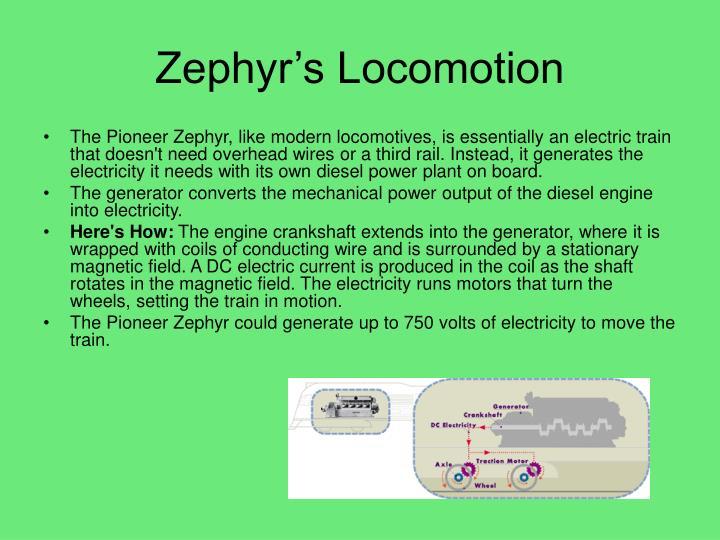 Zephyr's Locomotion