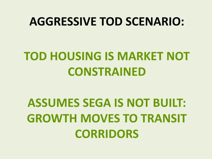Aggressive TOD Scenario: