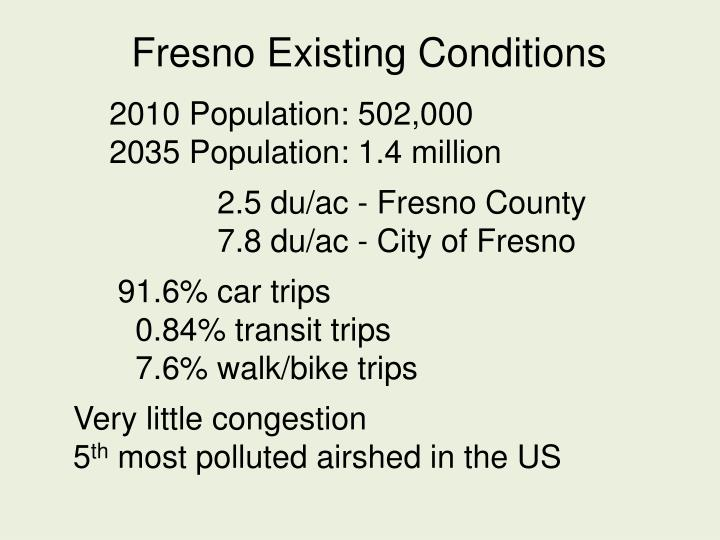 Fresno Existing Conditions
